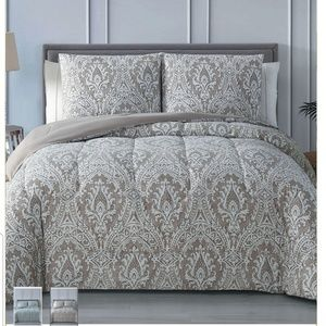 Full/Queen comforter set in taupe